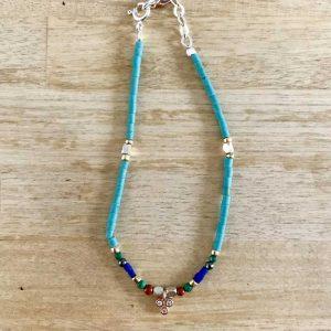 Bracelet Blue Greek : Bijoux artisanaux - Mimpi Manis Déco artisanale