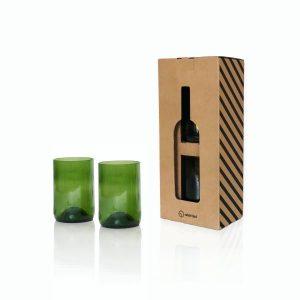 Pack de 2 verres green - Vaisselle de cuisine Rebottled - Déco Cuisine