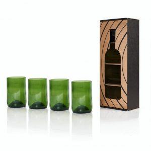 Pack de 4 verres green - Vaisselle de cuisine Rebottled - Déco Cuisine