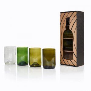 Pack de 4 verres 4 couleurs - Vaisselle de Cuisine Rebottled - Déco