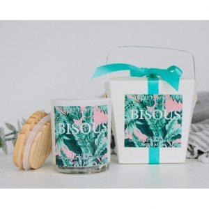 Bougie BISOUS : Lifestyle Maison Babou - Déco - odeur au goût d'épices